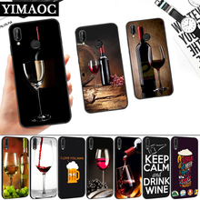 Keep Calm Drink Bear Wine Silicone Soft Case for Huawei P8 P9 P10 P20 P30 Lite Pro P Smart Z Plus