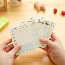 10*7CM Creative Desktop Plan Notebook This Notesign Bluebird Flower Day Week Plans Study Schedule