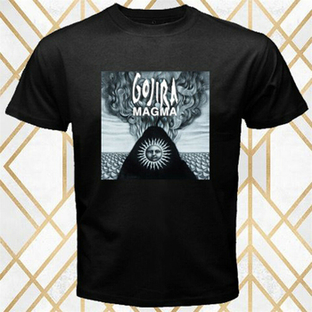 Gojira Heavy Metal Band Magma Album Logo Men'S Black T-Shirt Size S - 3Xl Graphic Tee Shirt