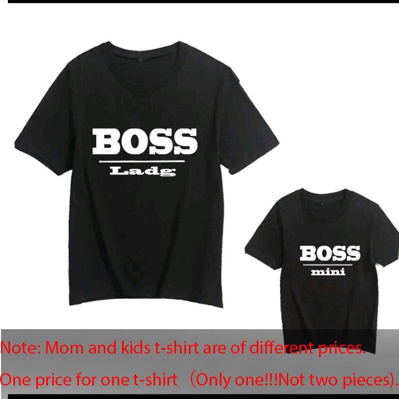 Gourd Doll/Семейные комплекты футболка женская футболка для сына и дочки топы для детей; Повседневная футболка для маленьких девочек и мальчиков - Цвет: boss white