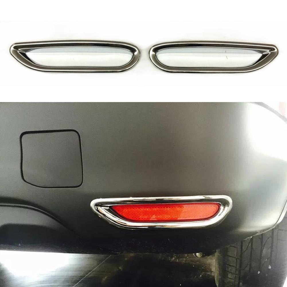 Car Chrome Rear Reflector Fog Light Lamp Cover Sticker Decoration Trim <font><b>Accessories</b></font> for <font><b>Nissan</b></font> <font><b>Qashqai</b></font> J11 <font><b>2014</b></font> Car-Styling image