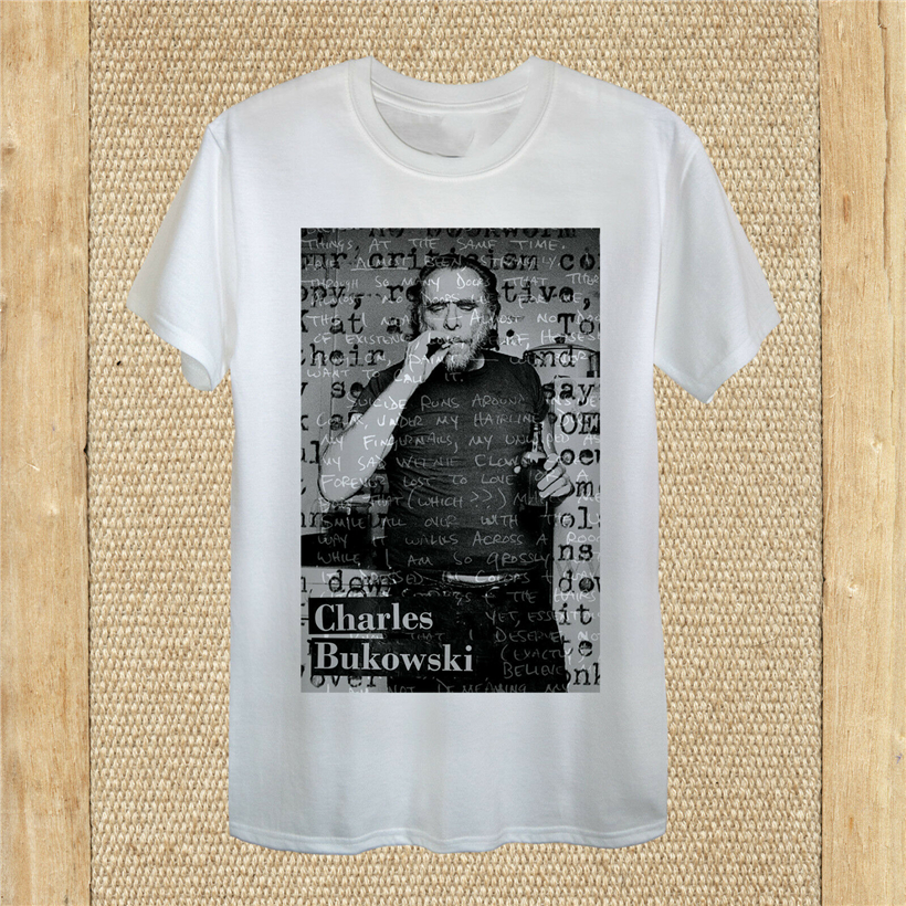 Henry Charles Bukowski T-shirt design dirty realism unisex women fitted quality