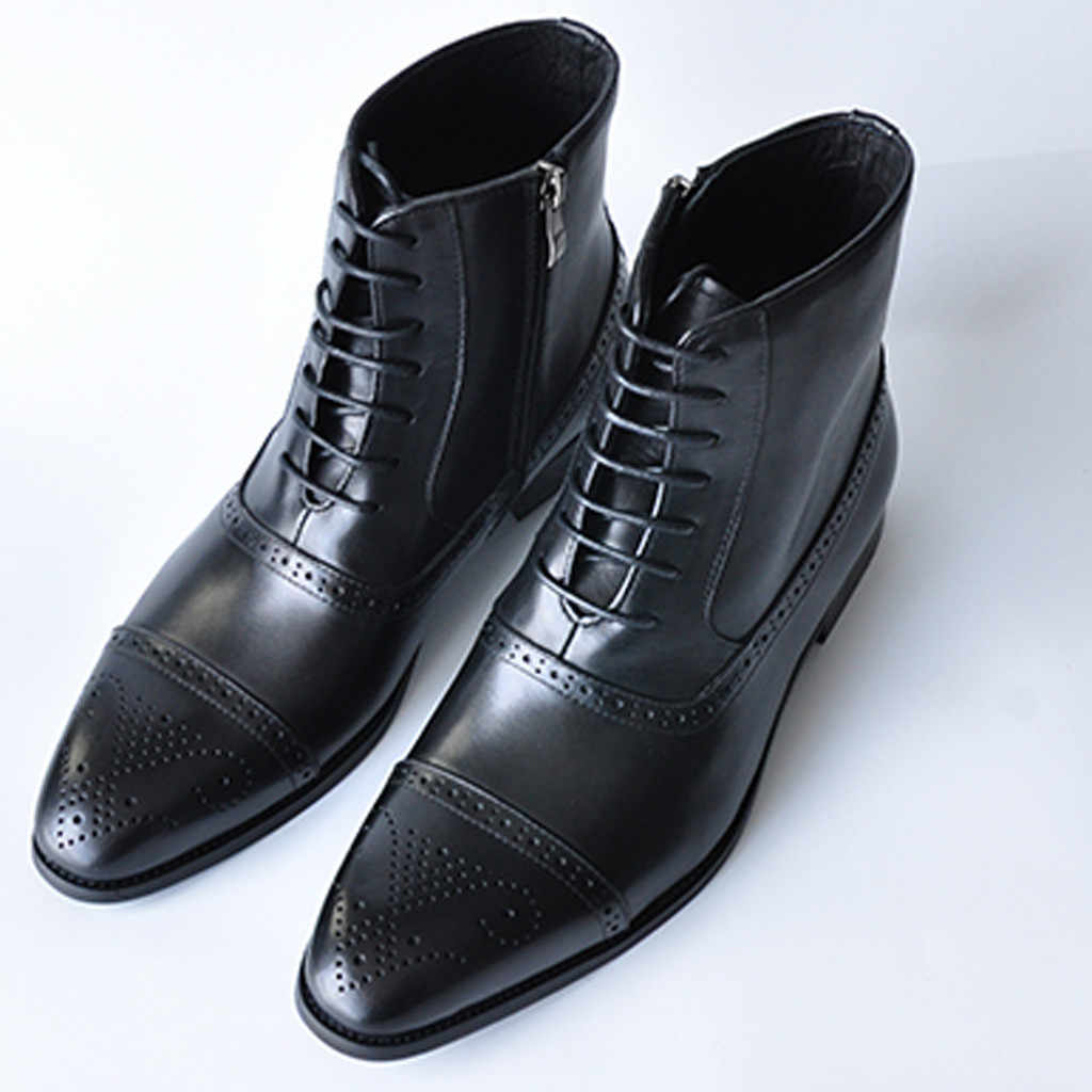 JAYCOSIN Herrenmode Wies Stiefel Hohe Rohr Atmungsaktive Lace-Up Side Zipper Outdoor Atmungsaktivem Mesh Casual Stiefel #45