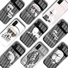 Lagerfeldly-funda de teléfono de marca de lujo, cristal para Huawei P30 lite 20 por P9 10 Honor 8X9 10 NOVA 5
