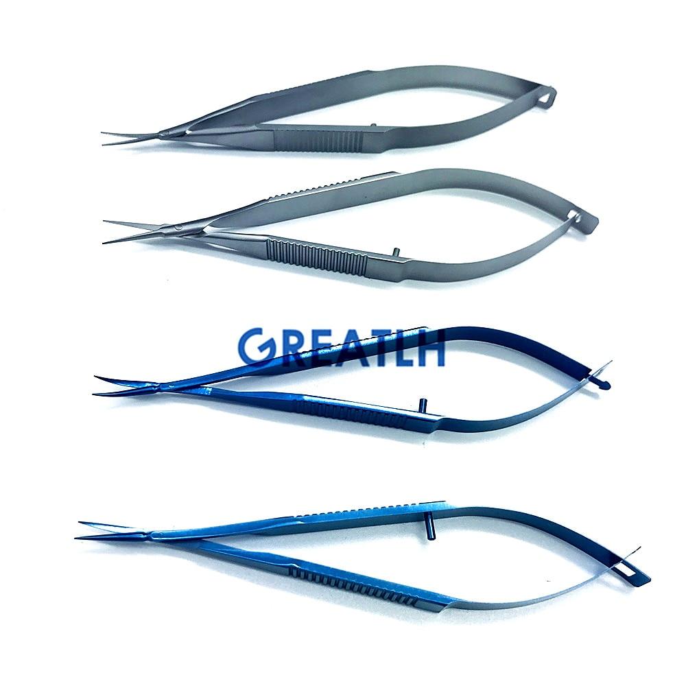 Micro Scissors 12.5cm Capsule Membrane Scissors Ophthalmic Microsurgery Scissors Eye Instrument