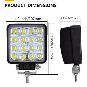 Image 2 - Auxtings 20pcs/Lot waterproof 48w Flood/Spot led Work Light bar waterproof CE RoHS offroad truck car LED work light 12v 24v