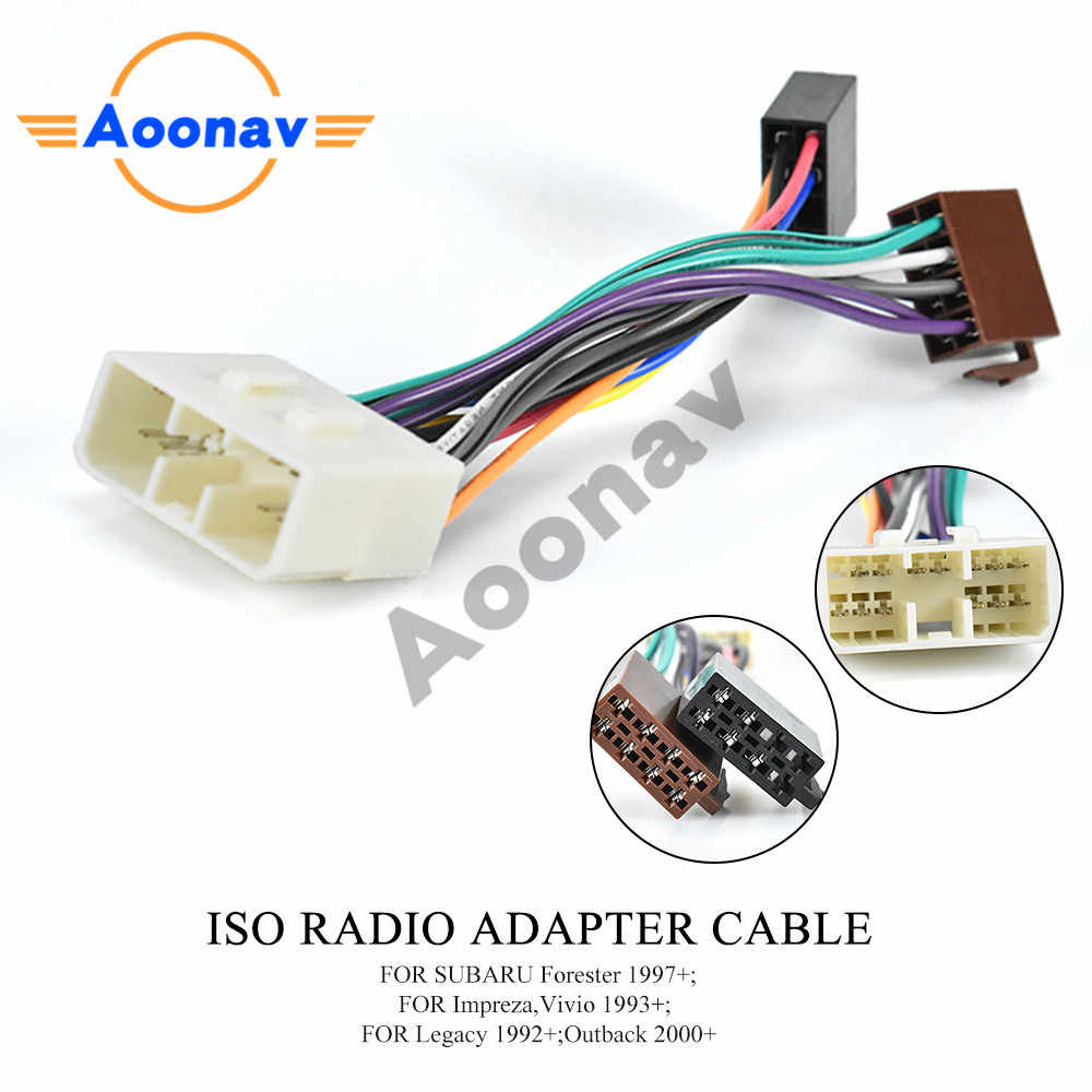40 401 ISO Radio Adapter for SUBARU for RENAULT Traffic Wiring ...
