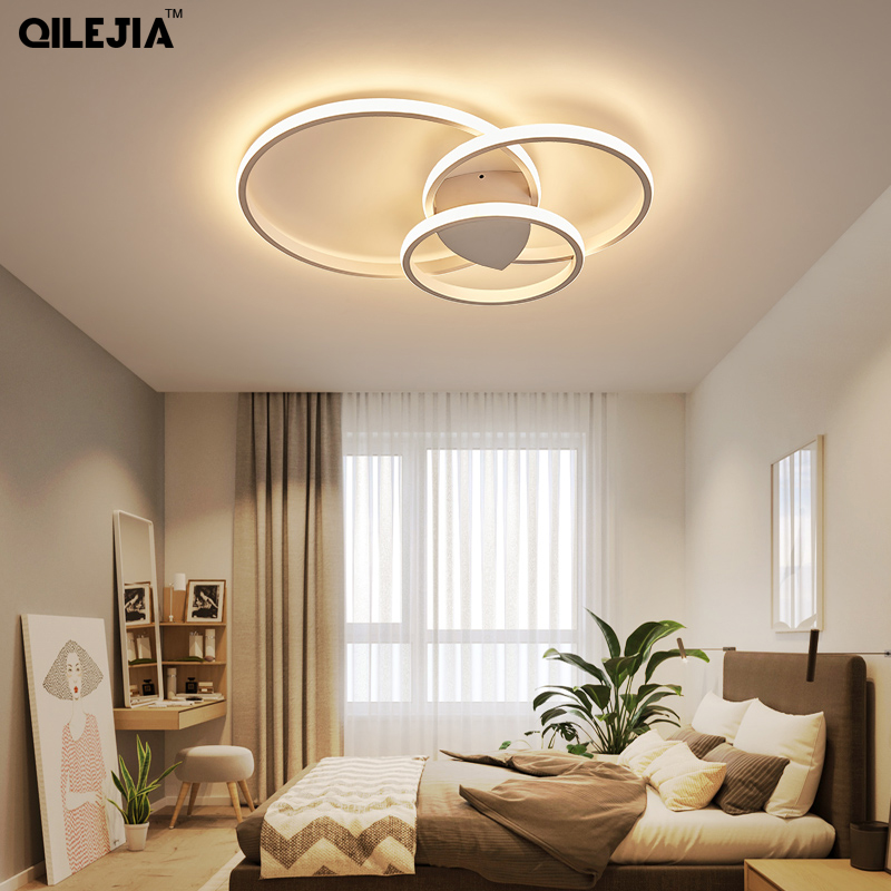 Led Ceiling Lamp For Living Room Bedroom Study Room Home Deco AC85-265V Modern White/Coffee Surface Mounted Ceiling Lamp