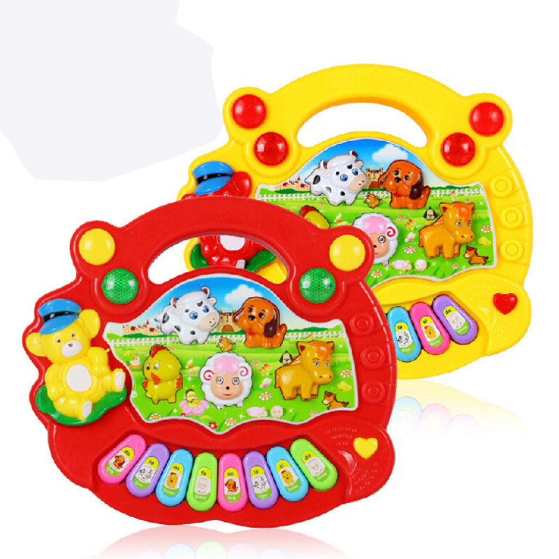 2019 Hot Sale Musical Instrument Toy Baby Kids Animal Farm Piano Developmental Music Educational Toys For Children Gift