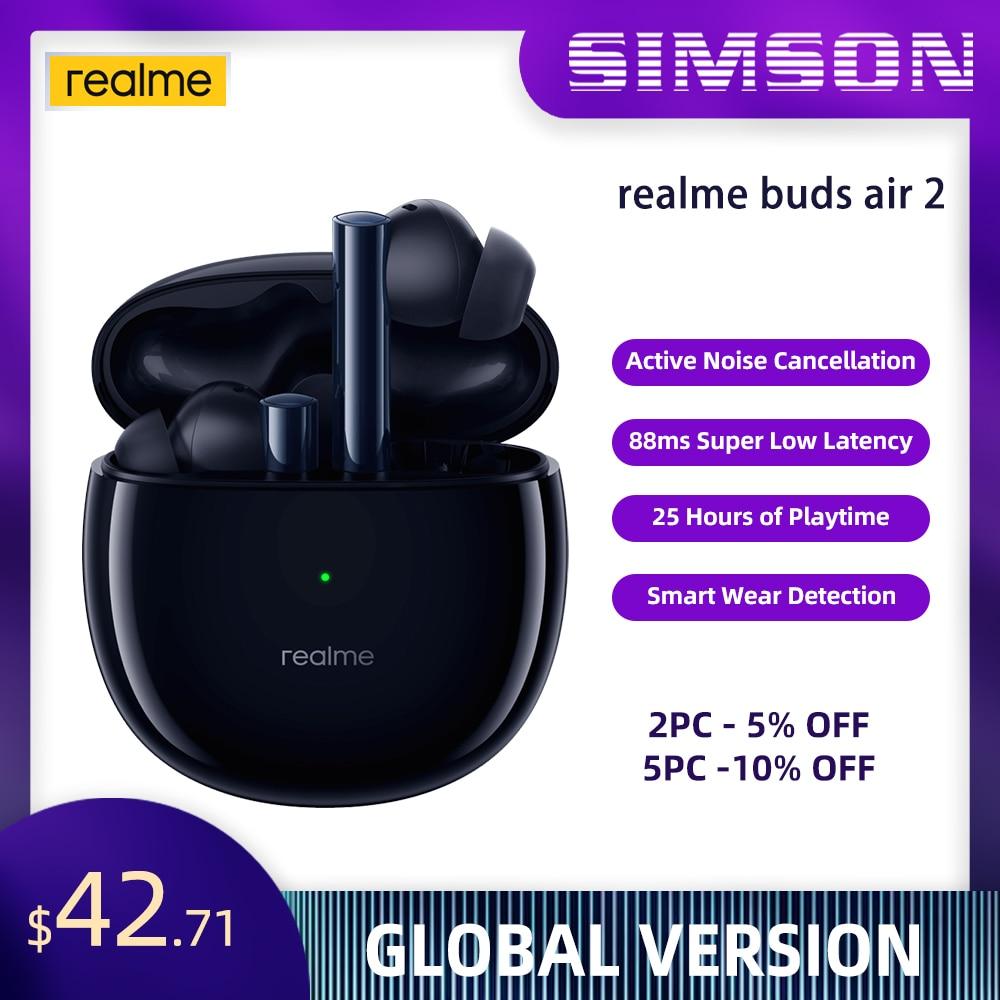 Verdadero yo brotes 2 auricular Bluetooth inalámbrico Micrófono Dual ANC auriculares 88ms superbajo latencia 10mm alta fidelidad bajo impulso conductor