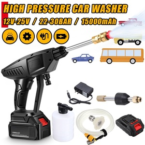 Image 1 - 22 30 BAR Rechargeable Washing Pump Cordless Car Washer Mashine High Pressure Nozzle Hose Cleaner Water Gun For Makita Battery