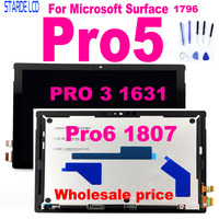 Original LCD For Microsoft Surface Pro5 Pro 5 1796 Pro 6 pro6 1807 LCD Display Touch Screen Digitizer Assembly pro3 1631 pro 5
