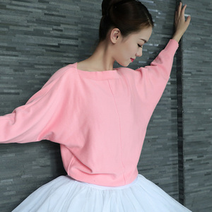Image 1 - Donne di Ballo di Balletto Maglione di Inverno Adulto Manica Lunga Knit Wrap Danza Magliette E Camicette Balletto Warm Up