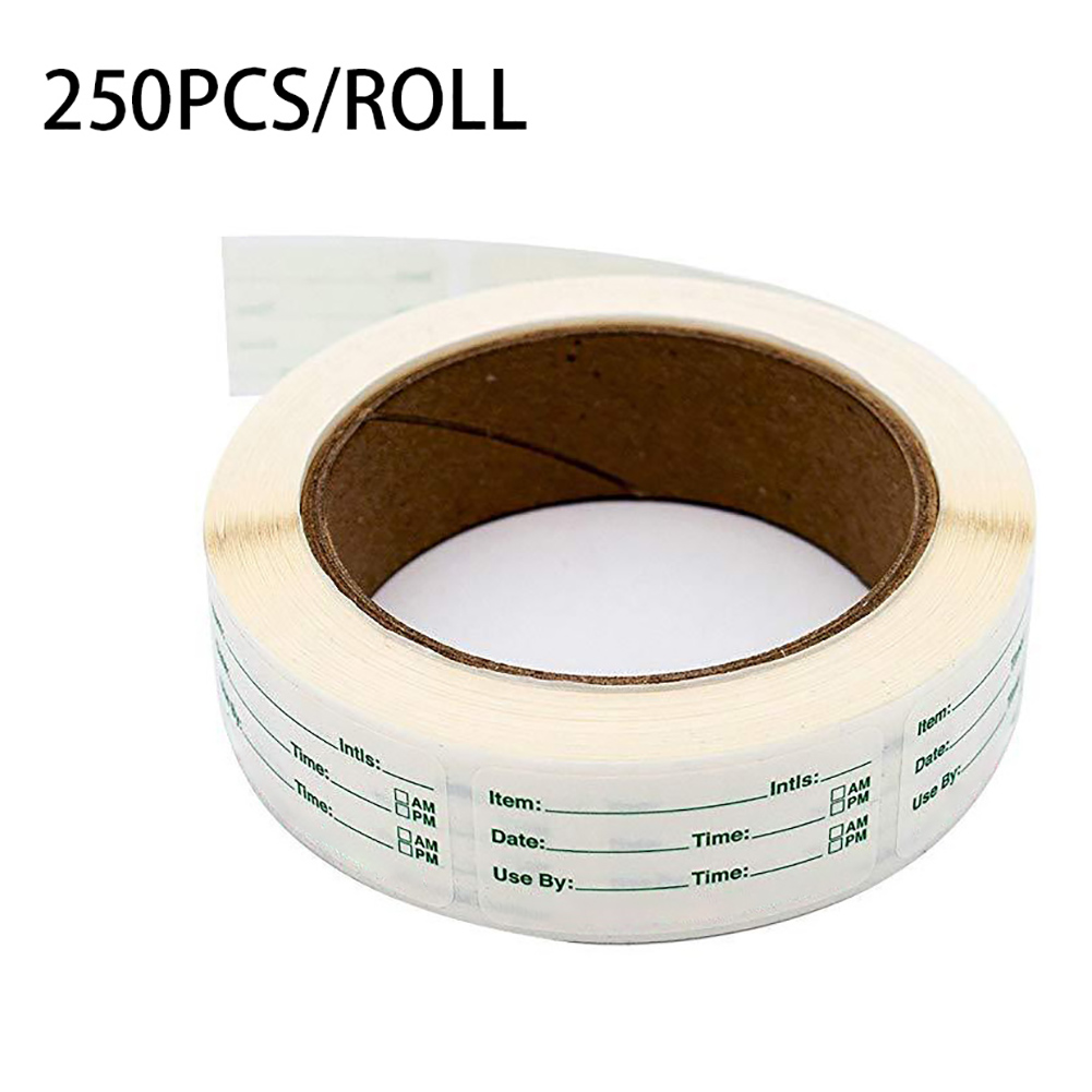 250pcs Self-Adhesive Stickers Removable Freezer Food Labels Stickers Easy Clean Leaves Cooler Food Storage Freezer Sticker