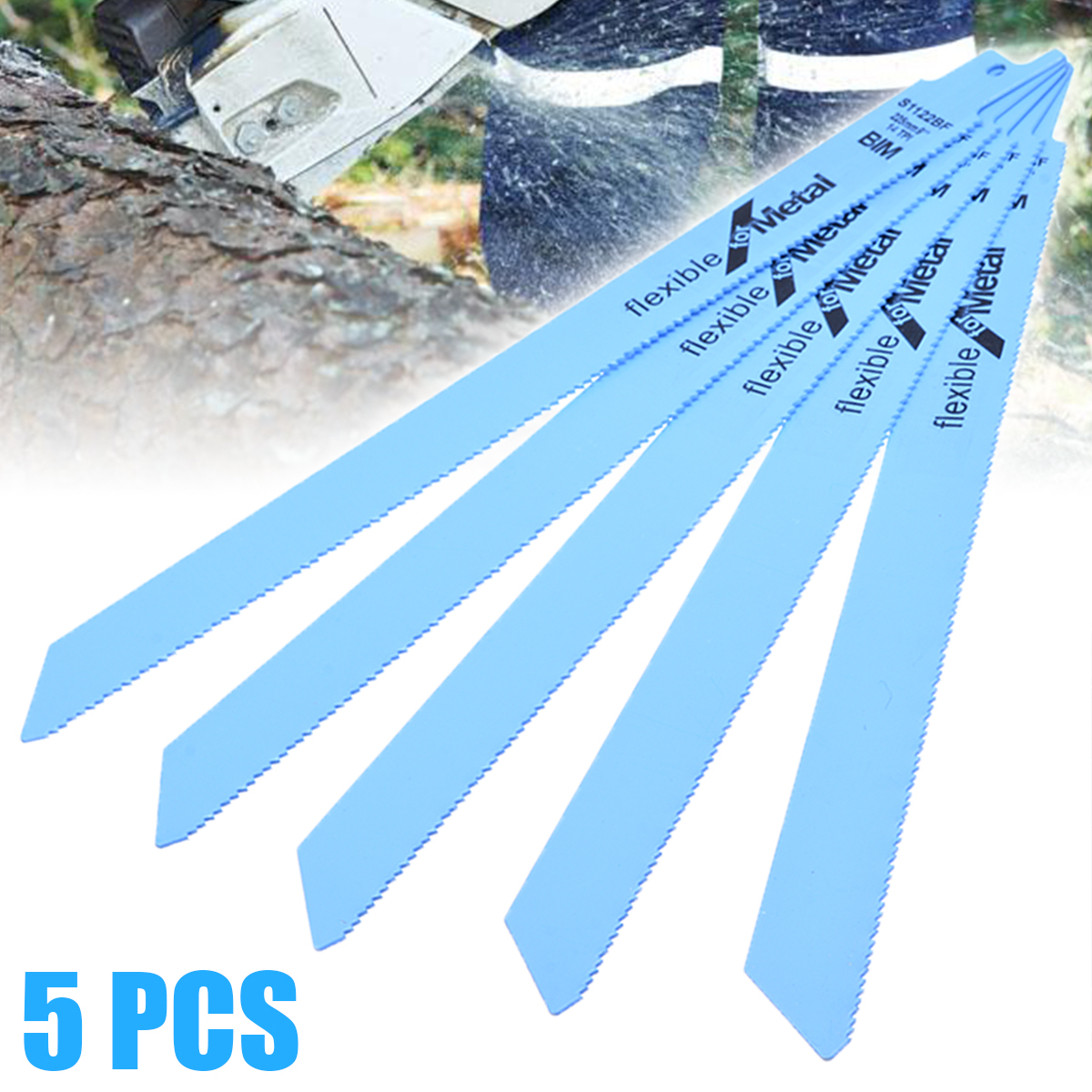 New 5pcs 18 Tpi Recip Saw Blades 225 X19mm Flexible Saw Blades Quality Durable Metal Saw Blades Replacement For Fast Cutting