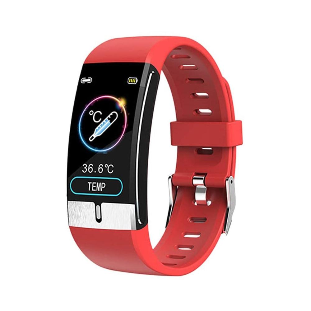 E66 Body temperature Monitor Health Bracelet Heart Rate Blood Pressure Smart Band Fitness Tracker Smartband Wristband SmartWatch
