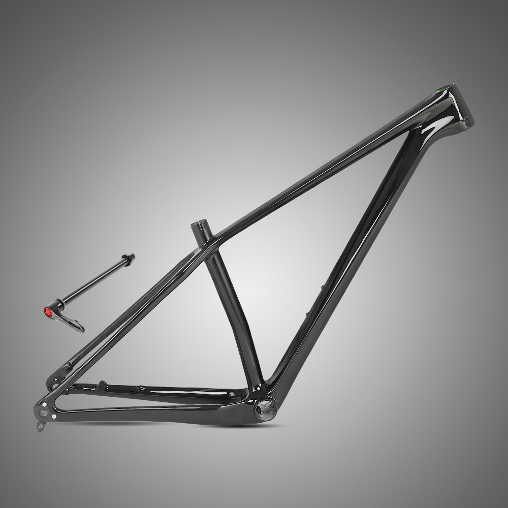 Zit M5 unmarked all-black carbon fiber mountain <font><b>bike</b></font> frame and barrel axle version 27.5/29