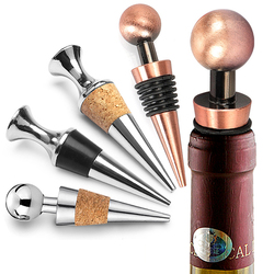 Stainless Steel Wine Stopper Vacuum Sealed Beer Beverage Stoppers Cork for Bottle Cap Storage Twist Plug Gift Kitchen Bar Tool