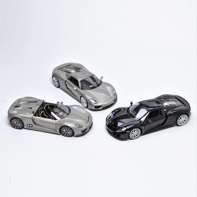 Welly 1/24 1:24 Porsche 918 Spyder Sport Racing Car Vehicle Diecast Display Model Birthday Toy For Kids Boys Girls
