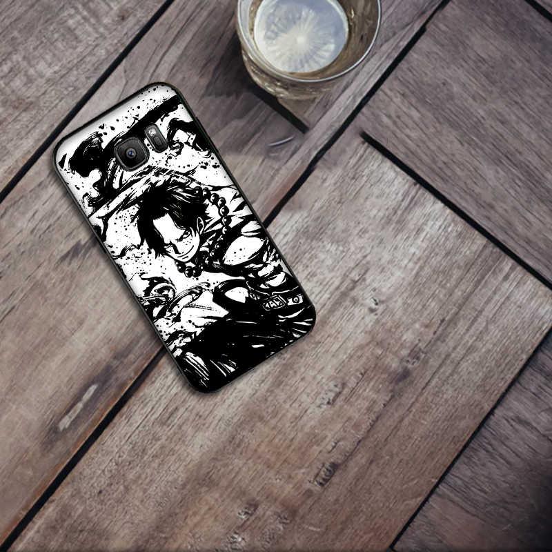 חתיכה אחת אייס רך סיליקון טלפון Case עבור Samsung A3 4 5 6 בתוספת 7 8 910 20 30 40 50 60 70 2018 M40 J6 Coque