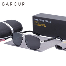 BARCUR Square Sunglasses Men Polarized Driving Mirror High Q