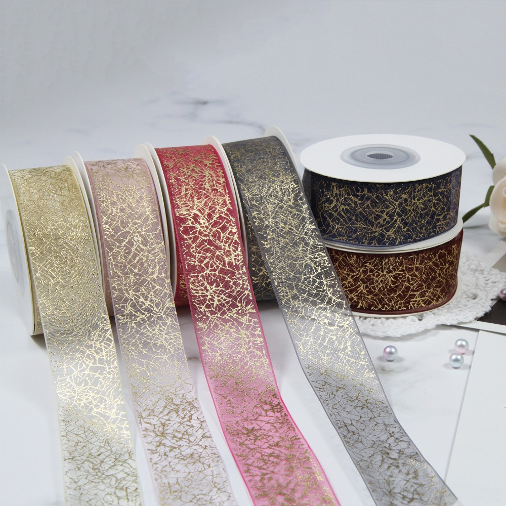 5Yards//Lot 26mm Sheer Organza Ombre Ribbon Bow Craft Wedding Gift Wrapping