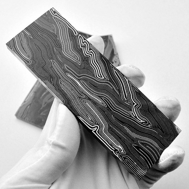G10 Damascus Pattern DIY Chef Knife Handle Composite Material Replacement Patch G-10 Kitchen Knife Accessories Tools