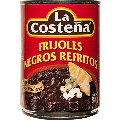 La Costeña Frijoles Negros Refritos 580gr Lata