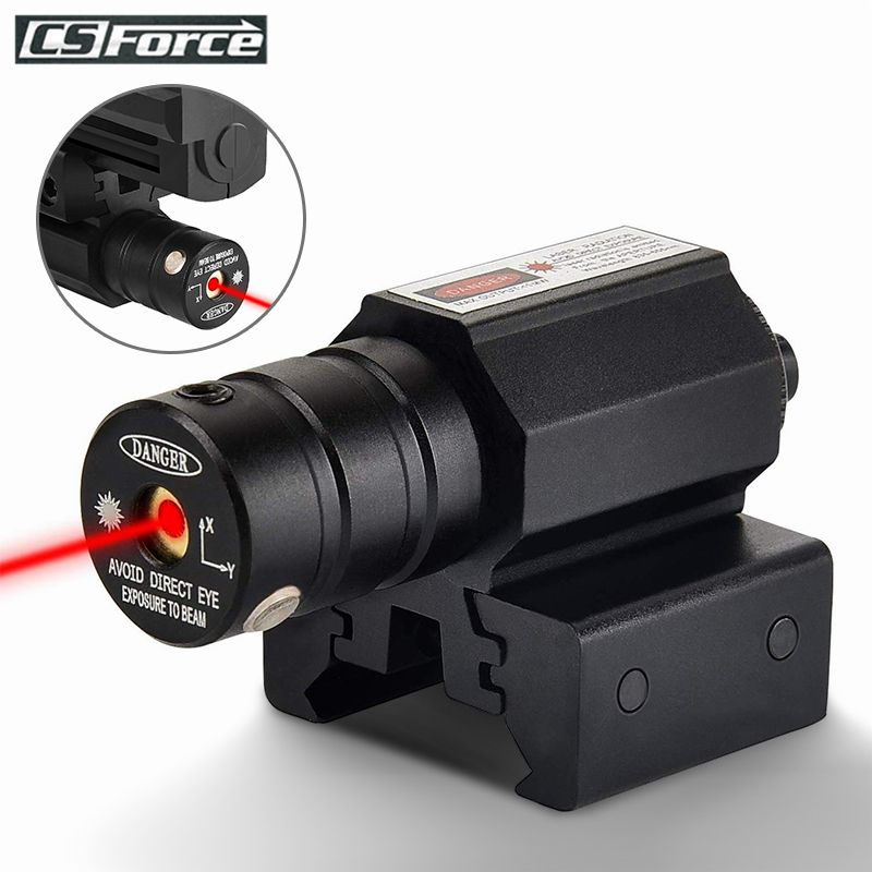 Tactical Red Dot Laser Sight Scope With Adjustable 11mm 20mm Picatinny Rail Mount Rifle Pistol Airsoft Hunting Gun Accessories