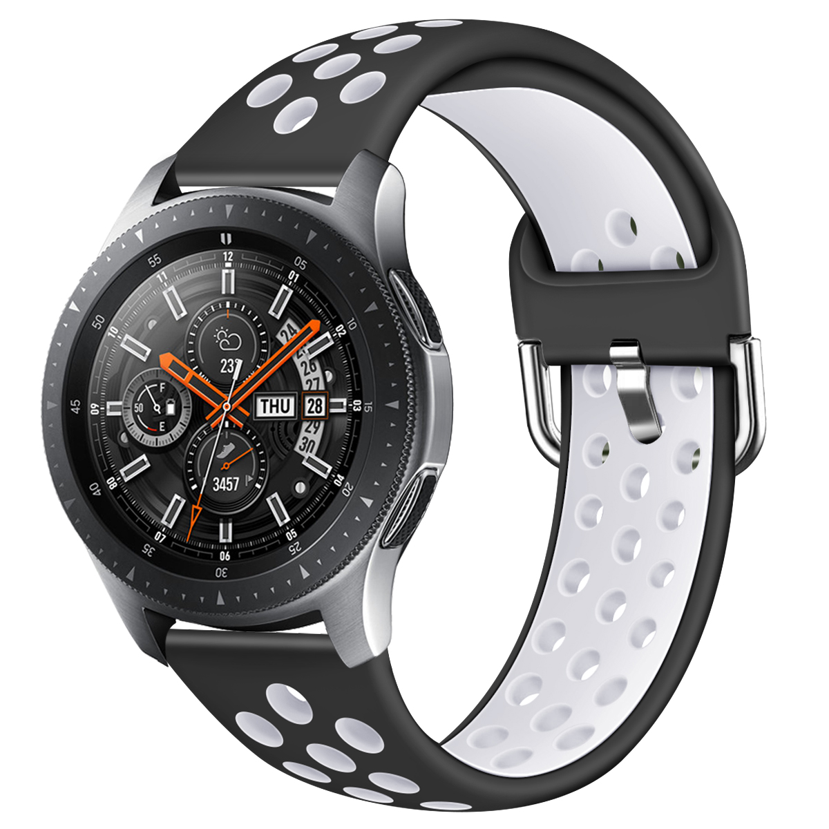 Compatible With Samsung Galaxy Watch 46mm 22mm Silicone Watchband Replacement Bracelet Band Strap For SM-R800 Huawei GT 2  91002