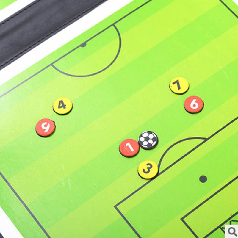 Soccer Football Tactical Board Trainning Assisitant Equipments  2.5 Fold  Leather Teaching Board  SAL99