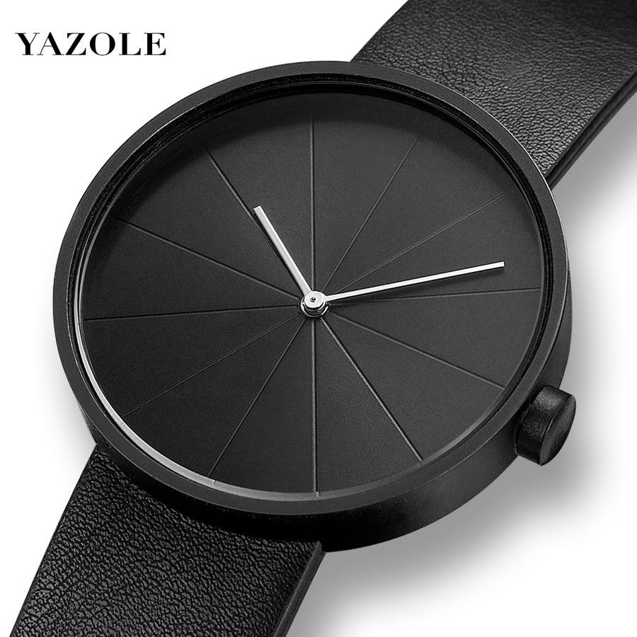 YAZOLE Minimalist Men's Fashion Ultra Thin Watches Simple Men Business Leather Band Quartz Watch Relogio Masculino Kol Saati
