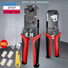 8P RJ45 Crimping Tool 6P RJ12 RJ11 Crimper Cutter Stripper Multifunctional Crimp for Phone Line Ethernet Network Cable Lan Plier