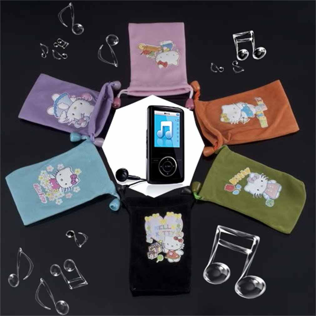 素敵なダブル高品質ソフトベルベットポーチバッグケースイヤホンため MP4 MP3 再生携帯電話の電源銀行キー