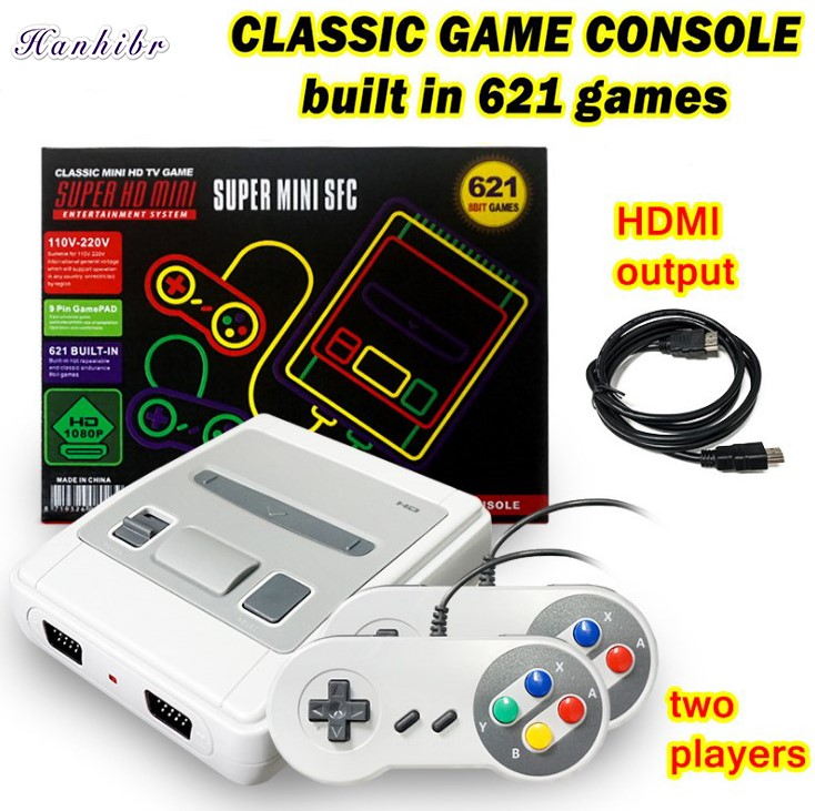 621 Games Childhood Retro Game Mini Classic 4K TV AV/HDMI 8Bit Video Game Console Handheld Gaming Player with 2 Gamepad Dropship image