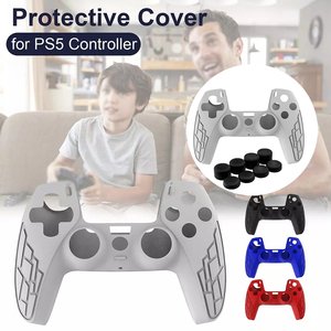 Image 3 - For PS5 Silicone Case Gamepad Cover for SONY Playstation 5 for PS5 Controller Protection Case Joystick Case Game Accessories NEW