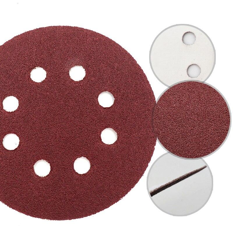 20 штук 5-Дюймовый 8 отверстий шлифовальные диски колодки сухой песок 400 Грит 125 мм инструмент для полировки UK