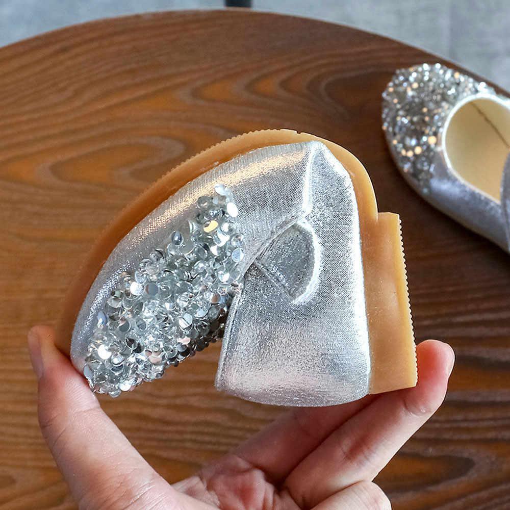 תינוקת נסיכת נעלי ילדים פעוט תינוקות בנות אופנה קריסטל עור יחיד המפלגה נסיכת נעלי Dropshipping #1116