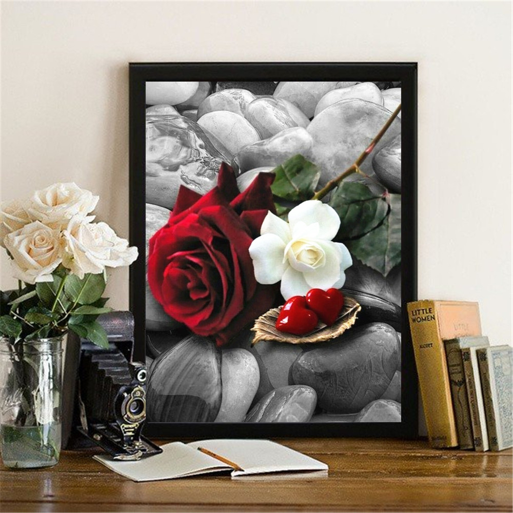 5D DIY Full Drill Diamond Painting Flower Embroidery Mosaic Kit Home Decor LY