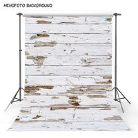 Rubber Floor Photo Backdrop Customize Printed Vintage White Wood Newborn Baby Shower Non slip Waterproof Rubber Back Pad Carpet