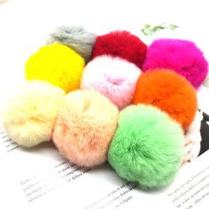 Помпон 6 см из кроличьей шерсти Рекс, плюшевый шарик, Детская кружевная нашивка, аппликация, Детская сумка для волос, DIY пушистый брелок, аксе...