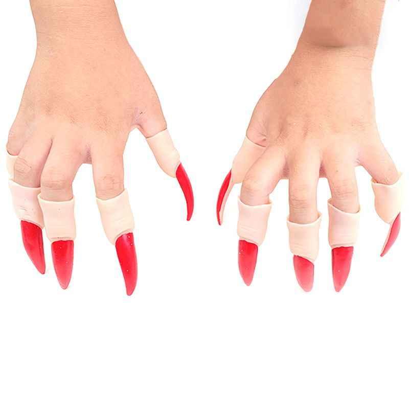 10 шт./компл. ведьмы Когти для ногтей Хэллоуин маскарадный палец ногти реквизит для фокусов для косплей костюм вечерние
