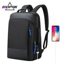 BOPAI 2020 Rucksack Männer Vergrößern Anti Theft Business Bagpack für 15,6 Zoll Laptop Schwarz Zurück Pack Schule Rucksack