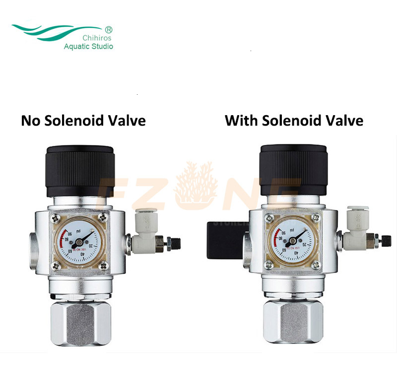 Chihiros CO2 Regulator DC12V CO2 Mini Regulator Aquarium Display With Check Valve W21.8 CGA320 Interface Magnetic Solenoid Valve