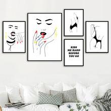 Черно белая сексуальная девушка макияж поцелуй цитаты стены