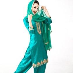 2020 neue Baumwolle Mantel Indien Panjabi Dupattas Traditionellen Frau Bluse Hosen Schal Kurtas Saree Top Katak Sets