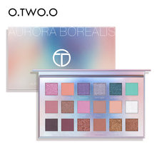 O.TW O.o 2020 Baru 18 Warna Eyeshadow Palet Pigmen Bubuk Mudah Campuran Kaya Warna Aurora Borealis Eye Shadow Makeup(China)