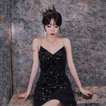 Plus Size Women Velvet Formal Dress Star Print Party Dress Sexy Sleeveless Mini Dress Elegant Black Prom Burgundy Evening Dress цена 2017