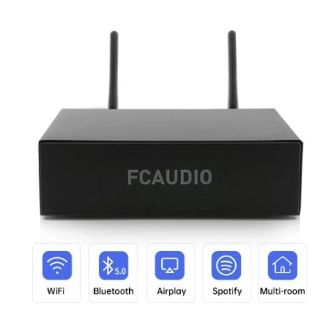 WR30 WiFi & aptX HD Bluetooth 5.0 HiFi Preamplifier With ES9023DAC AKM ADC Multiroom Airplay Tidal