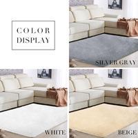 SOLEDI Polyester Fiber Bright Fluffy Rugs Floor Dining Room Home Warm Area Rug Sofa Mat Multicolored Anti Skid Decoration|Rug|   -